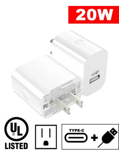ALX-PD20W 20W PD dual wall charger