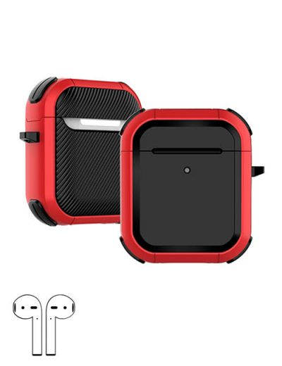 AirPod 1/2 hard case cover with keychain Red M1