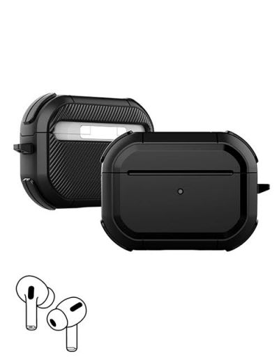 AirPod Pro hard case cover with keychain Black M1