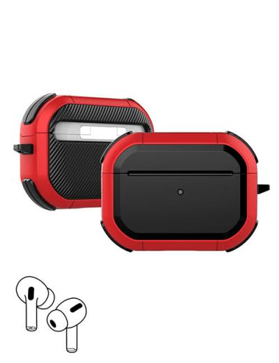 AirPod Pro hard case cover with keychain Red M1
