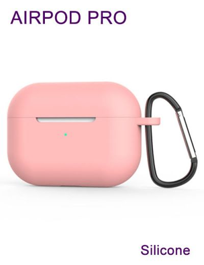 AirPod Pro case cover with keychain Silicone Pink