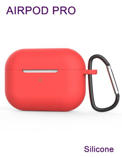AirPod Pro case cover with keychain Silicone Red