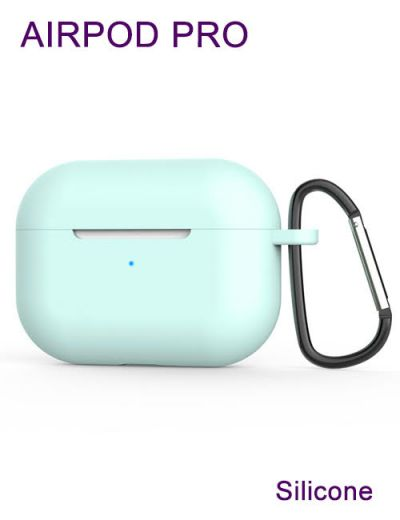 AirPod Pro case cover with keychain,Silicone Turquoise