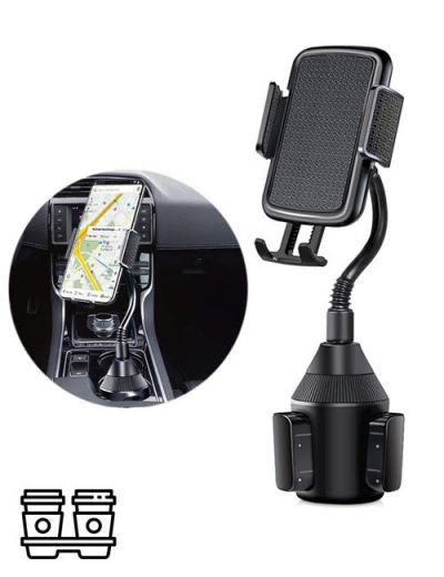 ALX-01 Cup Holder Phone Car Mount With Adjustable Arm