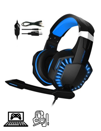 ALX-G2000PRO Over-Ear Gaming Headset - Blue/Black