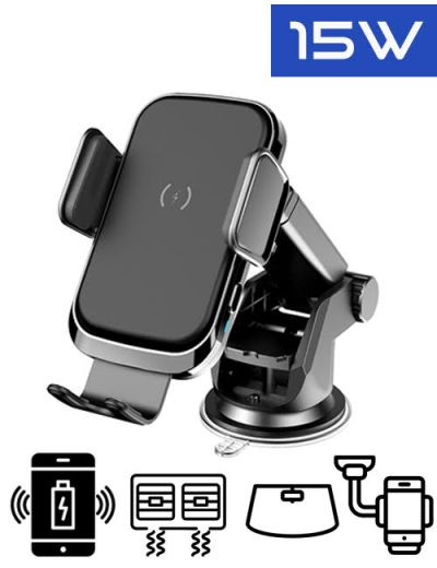 ALX-X2 Wireless car charger phone mount 15W fast charging dash/window