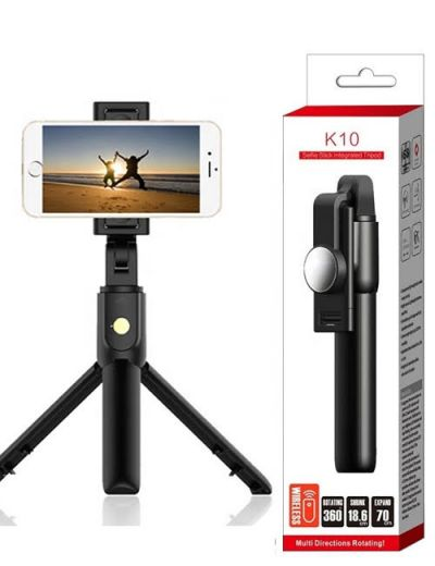 ALX-K10 Selfie stick with integrated Tripod rotating Bluetooth