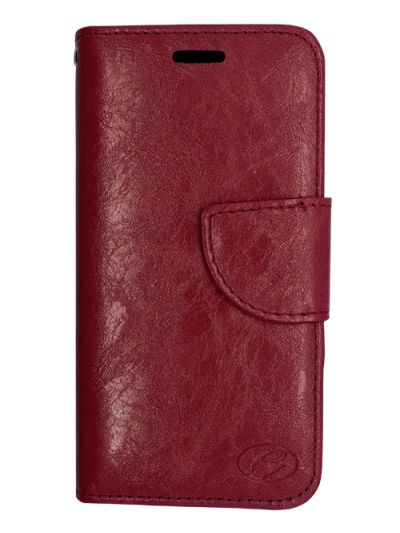 Premium Burgundy Wallet case for Moto Z3 Play