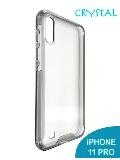 iPhone 11 Pro Clear Crystal case Black contour