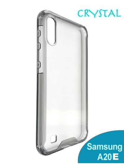 Samsung A20e Clear Crystal case Black contour