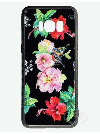 Samsung S8 Flower/Bird Glaze case