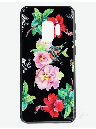 Samsung S9+ Flower/Bird Glaze case