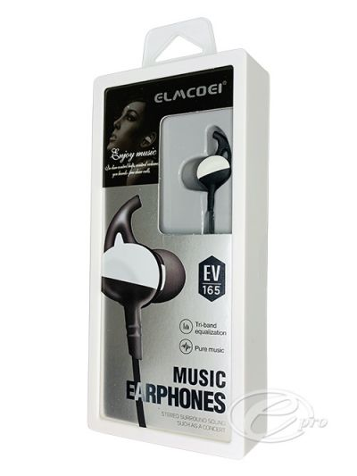 Stereo Hands Free Black 3.5mm EV-165