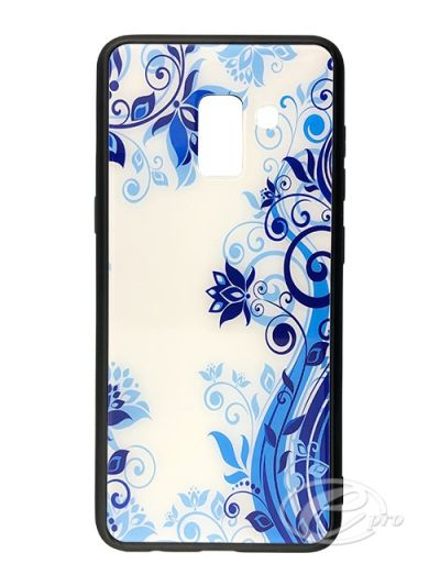 Samsung A8 Blue Flower Glaze case