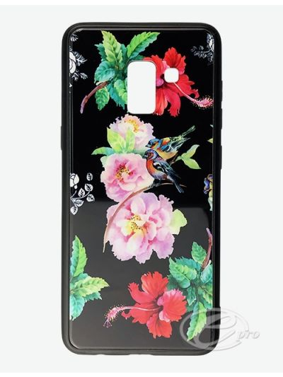 Samsung A8 Flower/Bird Glaze case