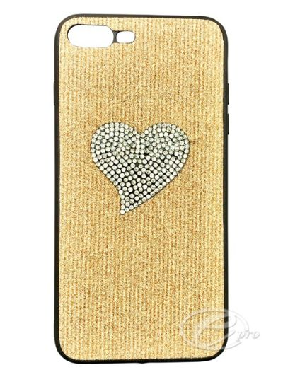 iPhone 7/8 Gold/Silver Heart Bling case