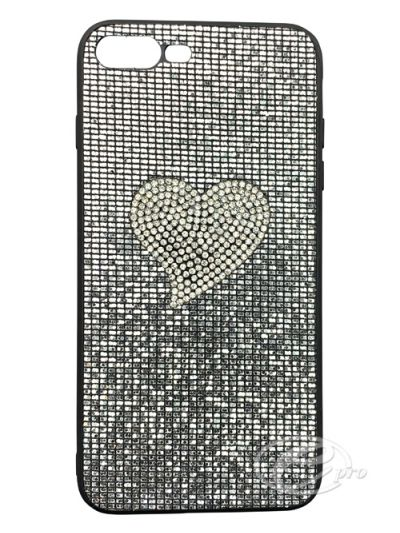 iPhone 7/8 Silver/Silver Heart Bling case