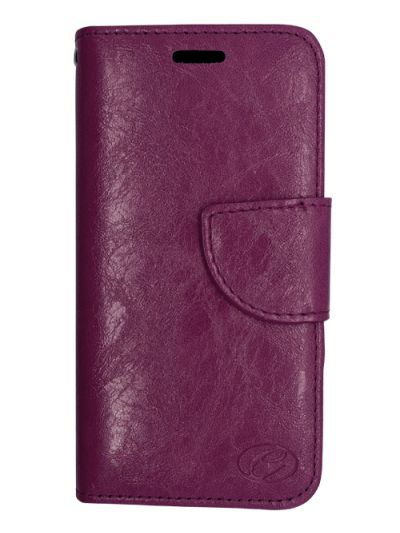 Premium Purple Wallet case for Moto G6
