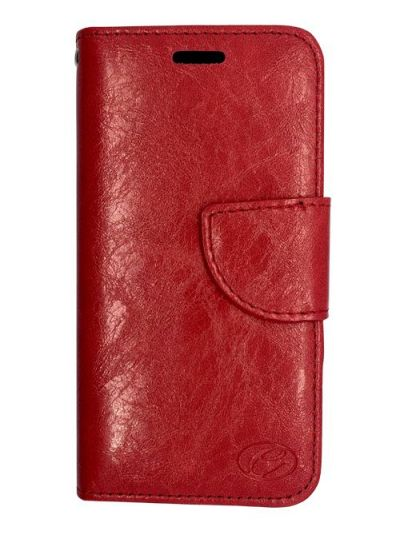 Premium Red Wallet case for Samsung A8