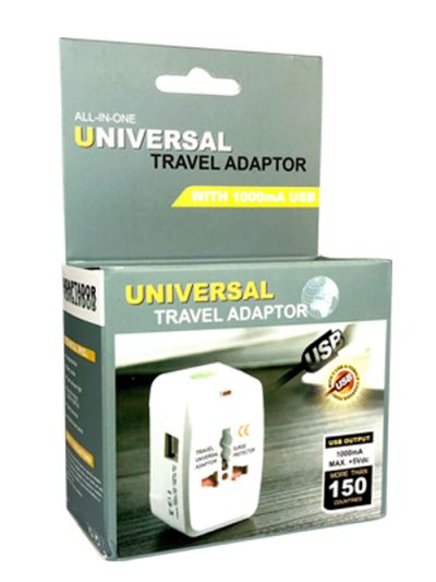 Universal travel adapter 110v/220v